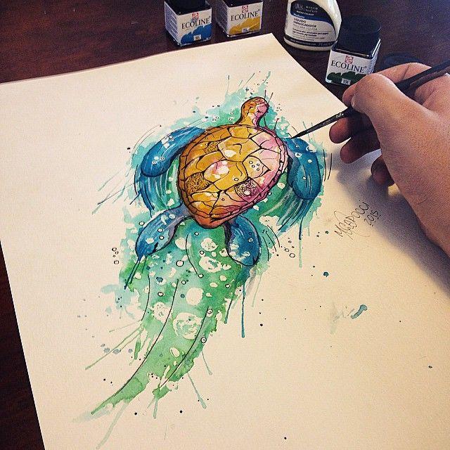 20 Watercolor Tattoos Origami Sea Turtles Ideas And Designs
