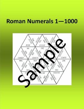 Roman Numerals 1  1000  Math puzzleIve included three different sizes of the same puzzle. The smaller size is only three pages and is great if you are going to print of individual copies for students to practice in class or at home. The larger size requires 8 pieces of paper and quite a bit of space to solve  fun for centers and group work.