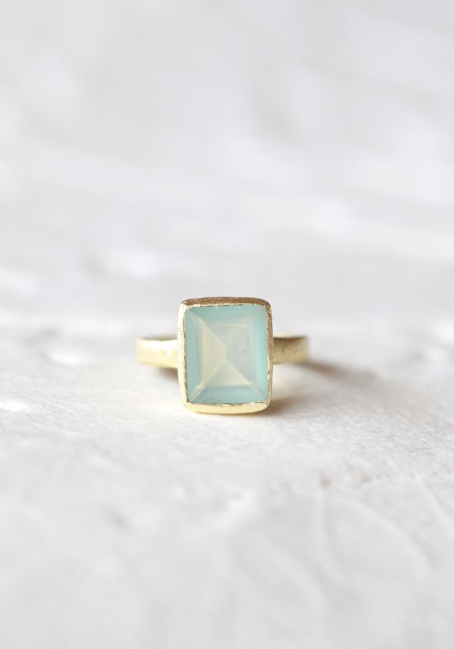 Color My World Indie Aquamarine Ring  / Shop Ruche