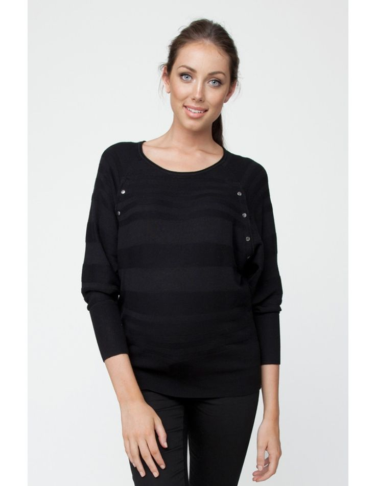 Kasia Nursing Batwing Knit - Maternity Tops & Tunics - Maternity