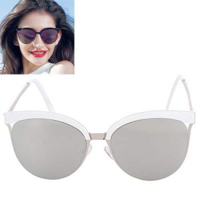 Cat Eye Shape Frame Decorated Simple Design Silver Color. Simple and must have it! REPIN if you love it.😍 Only 135 IDR