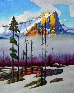 'Incandescent Mountain Peak' by Canadian Artist Nicholas Bott.