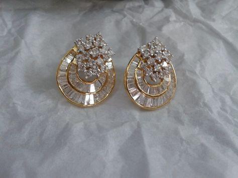 diamond earrings -my design
