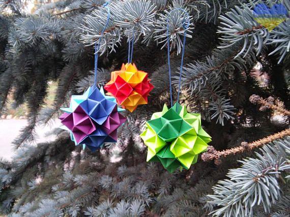 Origami Christmas Decorations Waldorf Rainbow Origami Star