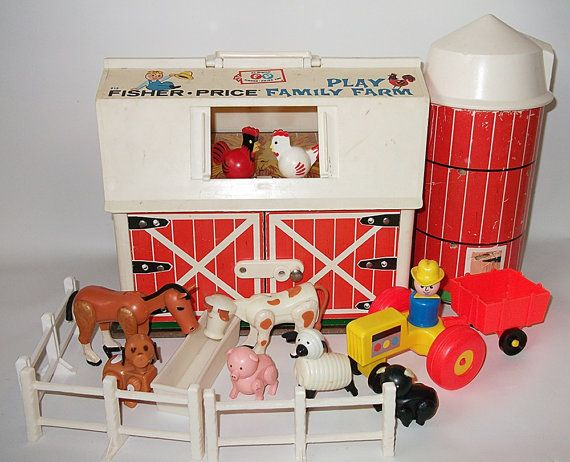 Vintage Fisher Price Barn Farm Silo.  I LOVED my barn!  I had everything in this pic :)