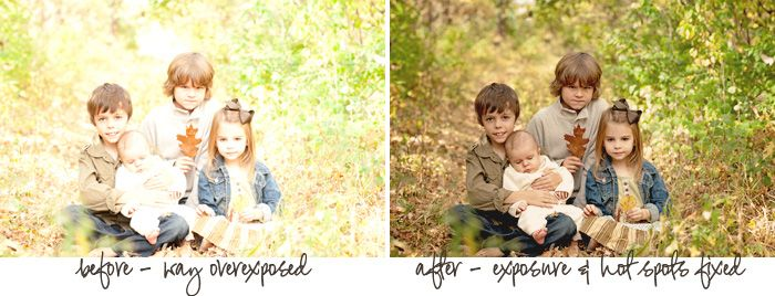 fix over exposed photos