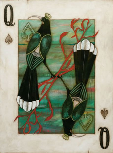Huia Queen - by Kathryn Furniss. Canvas and paper art-prints available from imagevault.co.nz