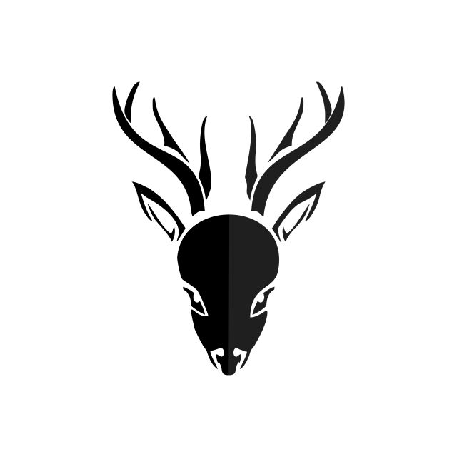 Deer Head Logo Deer Head Clipart Abstract Animal Png And Vector With Transparent Background For Free Download Vector Logo Deer Drawing Logo Illustration