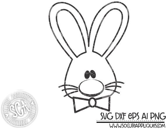 Easter Boy Easter Bunny Svg Rabbit Clipart Easter Bunny Cut File