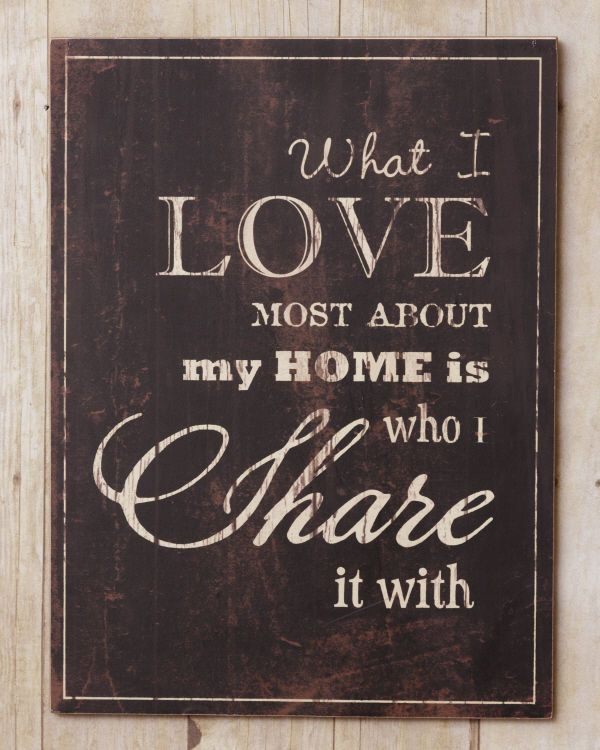 New WHAT I LOVE MOST ABOUT MY HOME IS WHO I SHARE IT WITH Plaque Sign  #FrenchCountry