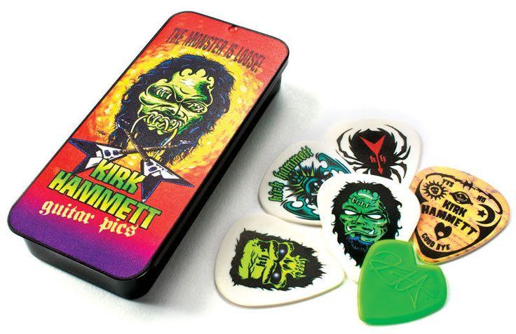 Jim Dunlop Kirk Hammett Monster Pick Tin + 6 Guitar Picks *New* Metallica