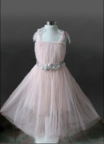 Бесплатная доставка рукавов дети жилет бальные платья туту лето ну вечеринку свадебное платье туту с кристалл ремень ребенок летом носить одежду