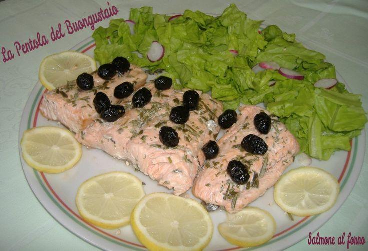 Salmone+al+forno+senza+olio