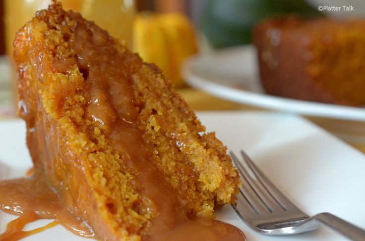 Slow Cooker Sticky Caramel Pumpkin Cake - Platter Talk This is bound to satisfy my deep pumpkin cravings