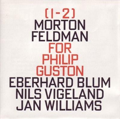 Morton Feldman album cover