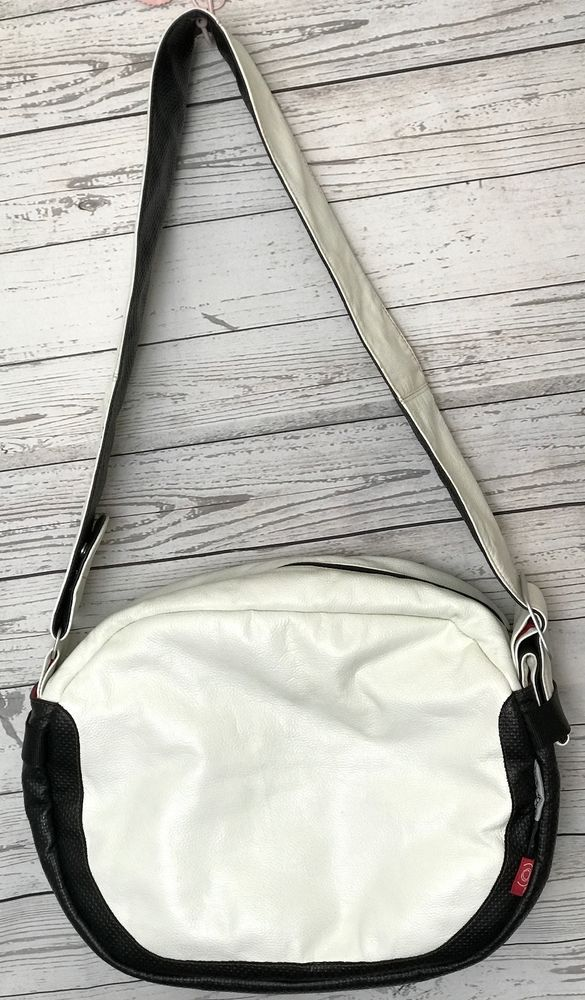Bugaboo White Leather (Red) Large Shoulder Messenger Diaper Bag bb01 #Bugaboo