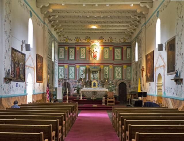 Quick Guide to Mission Santa Ines: for Visitors and Students: Santa Ines Mission Interior Picture