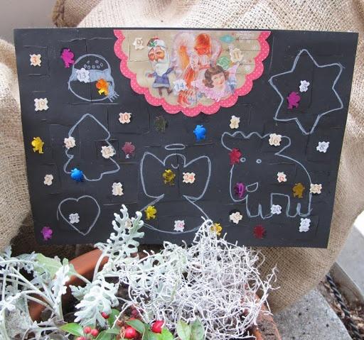 Lankasydän: Lasten tekemät paperiadventtikalenterit