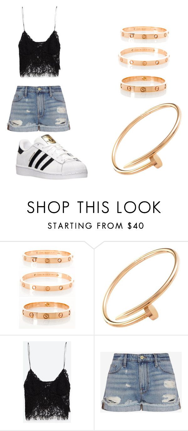 """love"" by escarletmix14 on Polyvore featuring moda, Cartier, Zara, Frame Denim, adidas, women's clothing, women, female, woman y misses"