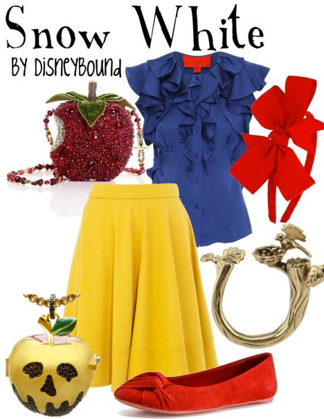 super cute: Snow White Outfit, Disney Outfit, Inspiration Outfit, Disneyoutfit, Disney Inspiration, Disneybound, Disney Bound, Disney Character, Disney Fashion