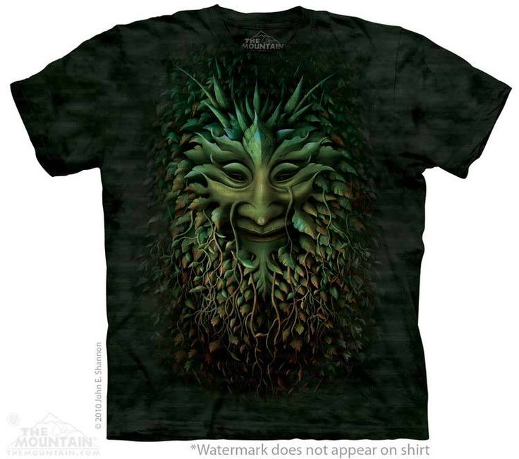 Big Face Greenman T-Shirt - Alien T-Shirts - tees - green t-shirts - funnny tshirts - fantasy t-shirts - scary t-shirts - zombie t-shirts - death t-shirts - gift ideas for christmas - ideas for christmas - unicorn t-shirts - robot t-shirts - epic t-shirts