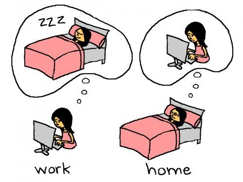 Funny cartoon for self employed people.