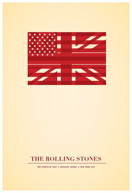 ROLLING STONES 4TH OF JULY POSTER BY JONATHAN CAPLAN