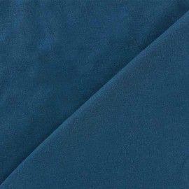 Tissu Jersey uni 100% coton - bleu pétrole x 10cm