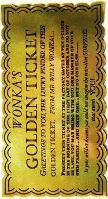 Wonka's #golden ticket