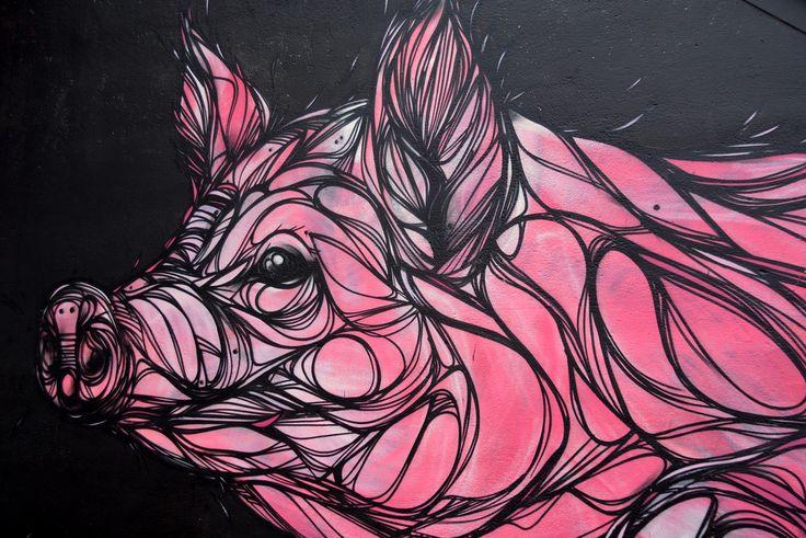 Cerdo, Animal, Mamíferos, Obra De Arte, Graffiti