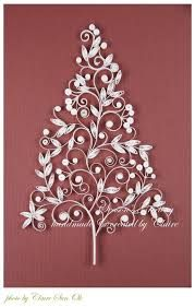 paper quilling christmas tree - Google Search