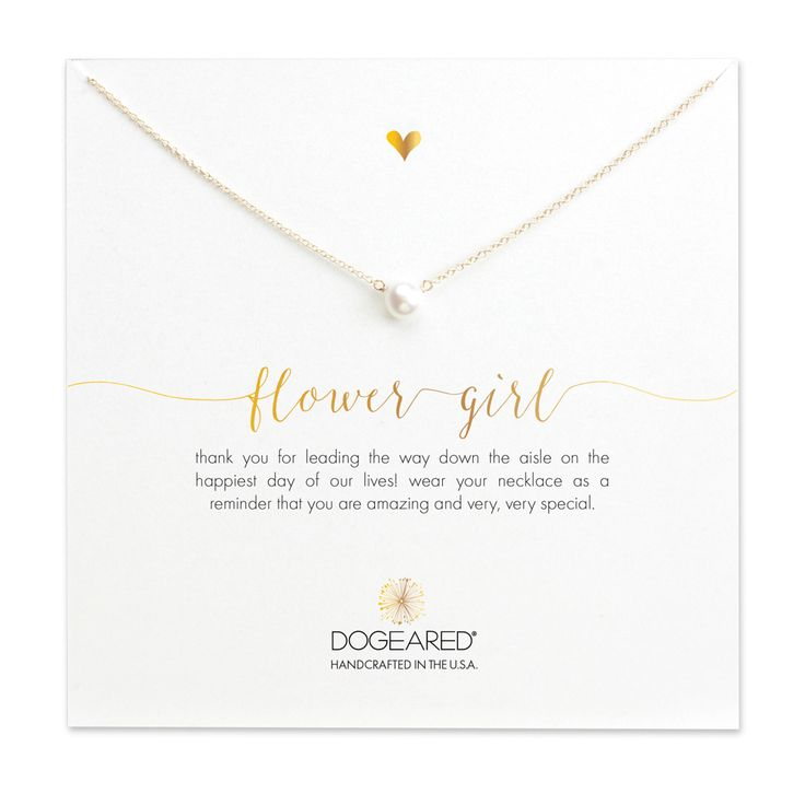 Flower Girl Smal Pearl Necklace, Gold Dipped | Dogeared