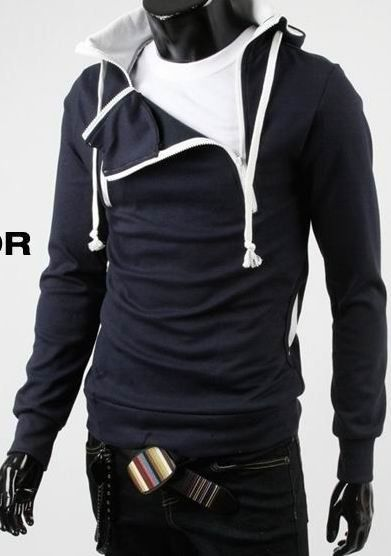 Fashion men's jacket, sport thicken fleece hoody, leisure outerwear