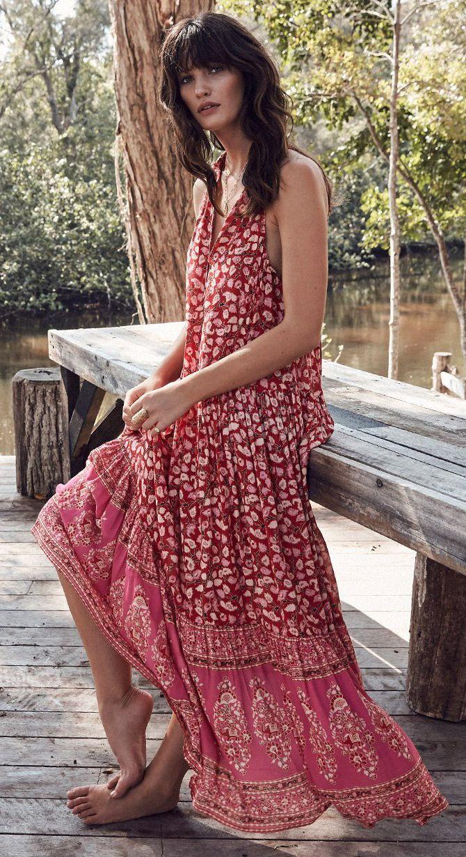 Dress Boho Bohemian Bohochic Bohostyle Summerstyle Maxi Dress Bohemian Maxi Dress Boho Maxi Dress [ 1230 x 670 Pixel ]
