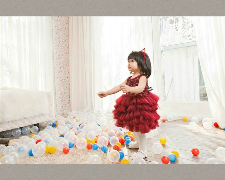 Red Ruffle Sequin Tutu Dress. Available from 0 - 15 Years. Material: Sequin, cotton, soft tulle mesh. Color: Red Wine