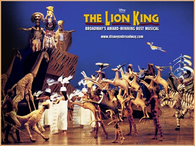"""""""the lion king""""  on broadway"""