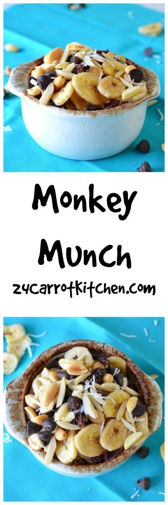 "This ""Monkey Munch"" trail mix has six ingredients and is grain, gluten and dairy free! 
