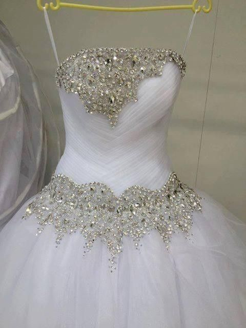 Strapless Beaded Wedding Gown