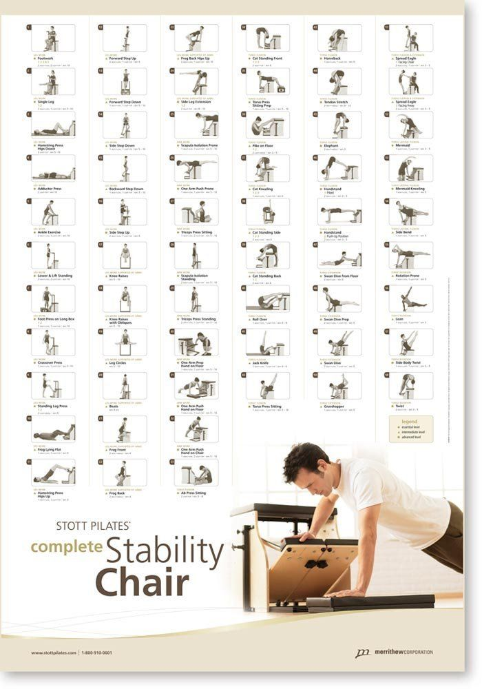 Amazon.com : STOTT PILATES Wall Chart - Complete Stability Chair : Fitness Charts And Planners : Sports & Outdoors