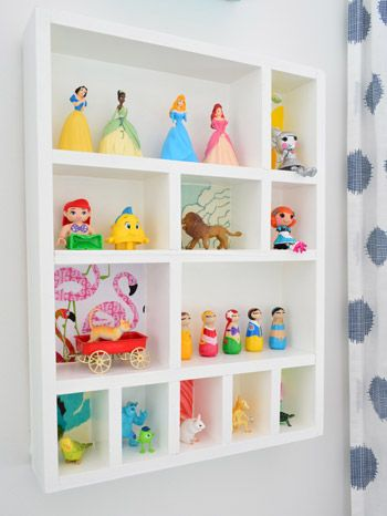 DIY figurine cubby… cheap, cute, and provides a spot for all those small things | Young House Love