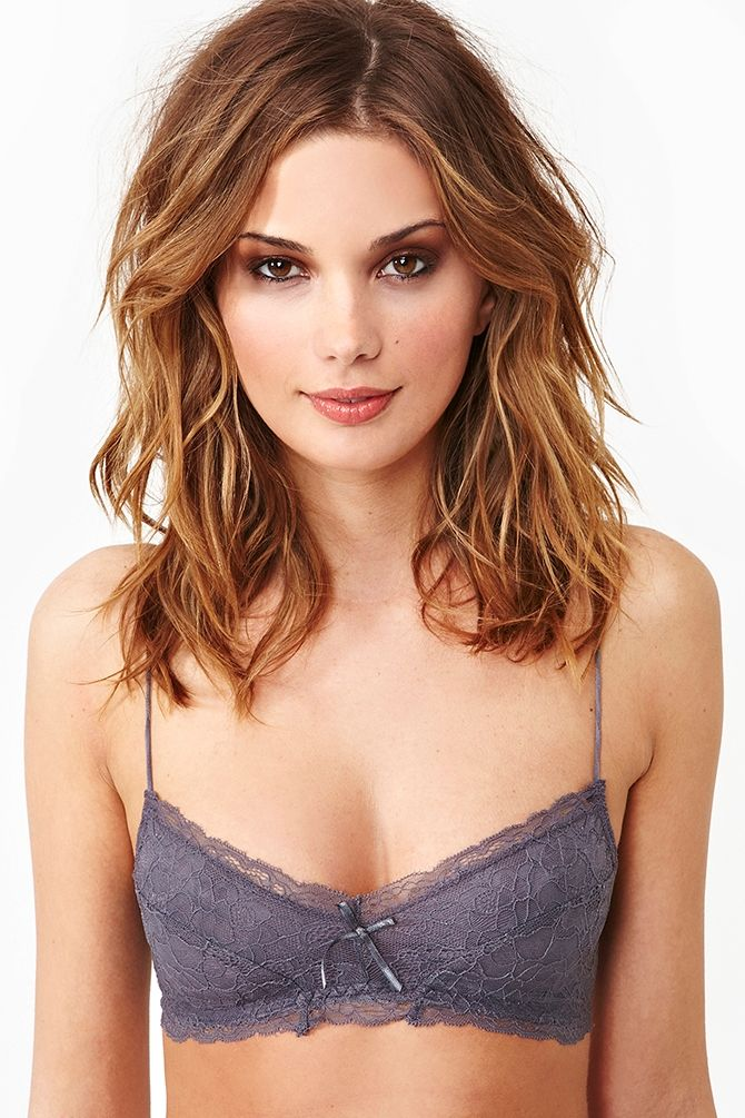 Camilla Lace Bra - Color: slate. Beautiful & comfy looking!