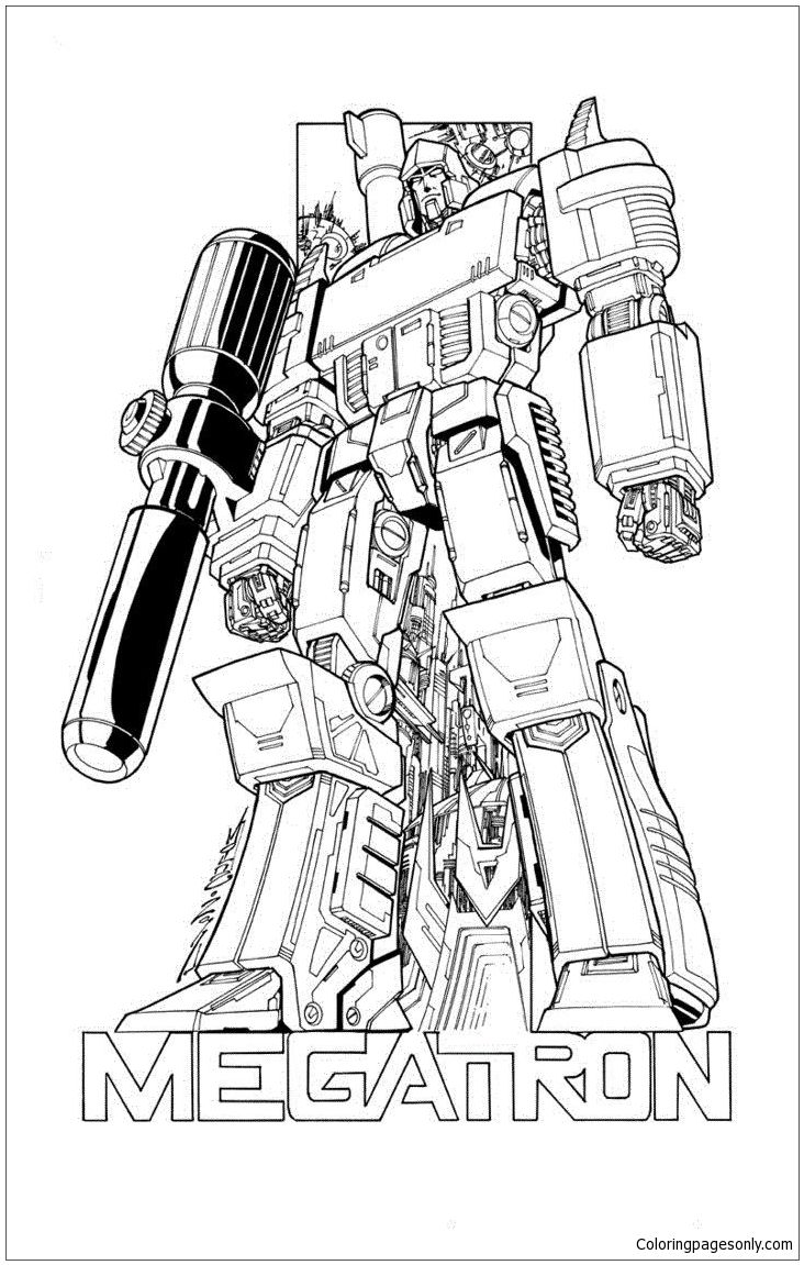 Transformers Megatron Power Coloring Page: http
