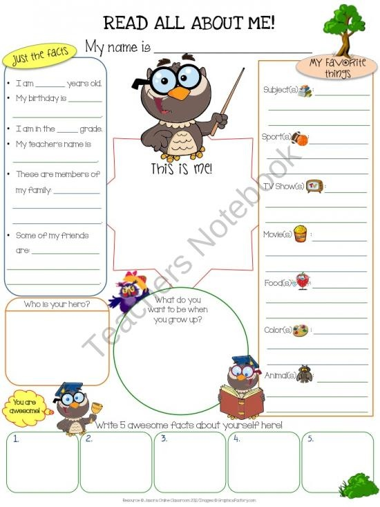 All About Me Owls product from Jasons-Classroom on TeachersNotebook.com