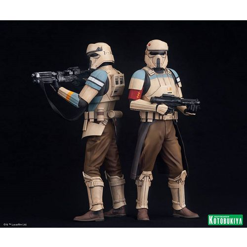 JMD Toy Store - Kotobukiya ArtFX+ Star Wars Rogue One Scarif Stormtrooper Statue 2pk