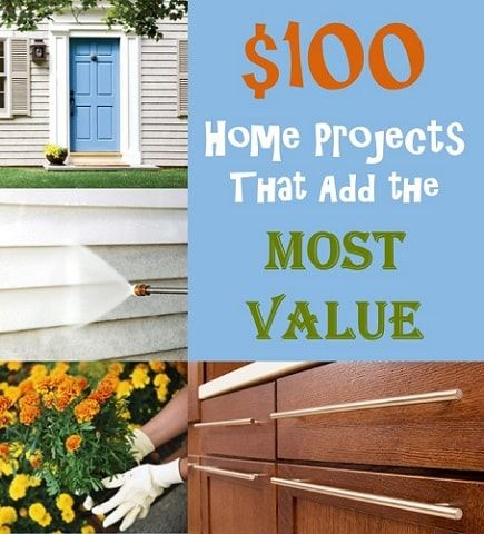 If a total kitchen or bath renovation is not in your budget, these $100 home improvements will give you the best return on your investment!  http://www.searchformountpleasantrealestate.com/blog/100-home-projects-that-add-the-most-value.html