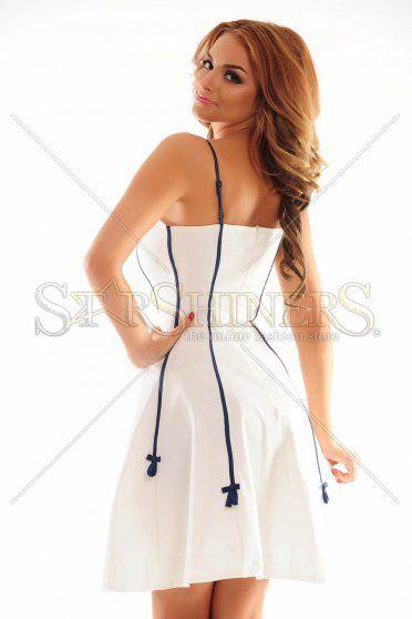 PrettyGirl Twist White Dress