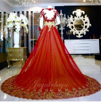 Wedding Kebaya Dress red 2016 beautiful and amazing.Indonesia Kebaya dress.