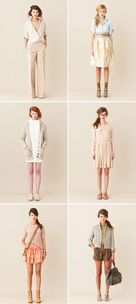 Cute Spring Summer collection by JCrew. Specially in love with the golden skirt (second picture) and the nude dress (4th pic)
