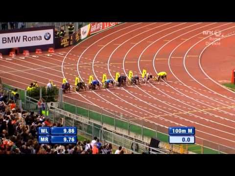 Justin Gatlin Beats Usain Bolt 100M Rome Diamond League 2013