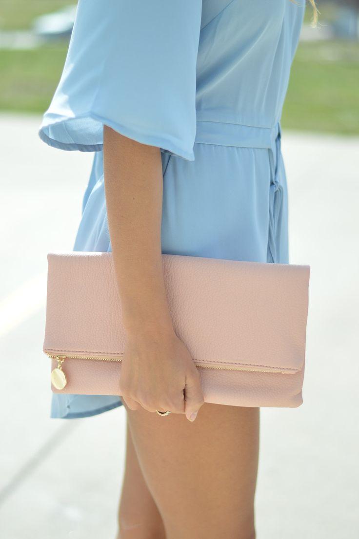 Chic Pastel Pink Clutch